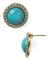 turquoise stud earrings ralph turquoise stud earrings bloomingdale s