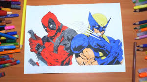 deadpool vs wolverine new coloring pages for kids colors