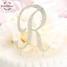 gold letter cake topper katemelon wedding accessories monogram wedding cake topper letter