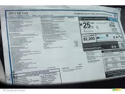 2013 volkswagen cc lux window sticker photos gtcarlot com