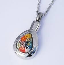 ashes keepsake cremation ashes jewellery keepsake necklace urn rainbow drop