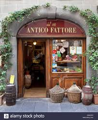 shop italy deli shop front lucca italy stock photo royalty free