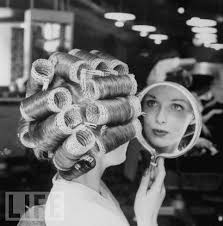 husband forced to sleep in hair rollers yep women set their hair every night in rollers they got used
