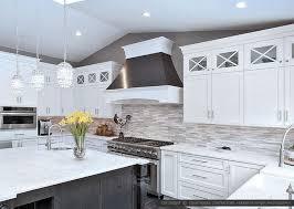 backsplash for a white kitchen glass kitchen backsplash white cabinets home design ideas