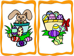free easter flashcards to and print