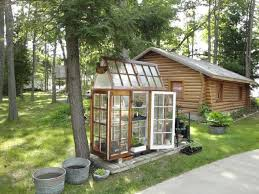 cute greenhouse cabin made from old windows cool greenhouses using
