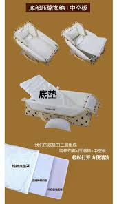 Foldable Baby Crib by Baby Bed Cradle Portable Toddler Cradle Diaper Bag Sleeping Basket