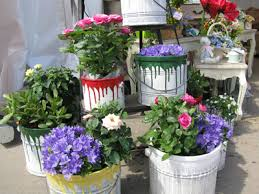 Painting Garden Pots Ideas Garden Container Ideas For Planting Some Different Flower Types