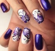 imagenes de uñas pintadas pequeñas imágenes de uñas decoradas con diseños de mariposas y flores