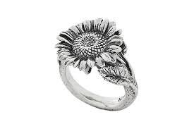 sunflower engagement ring sunflower ring