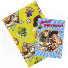 buy gem toy story wrapping paper birthday card and gift tags pack