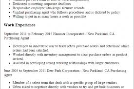 Sample Resume For Purchasing Agent by Purchasing Agent Resume 2016 Reentrycorps