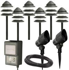 halogen hampton bay outdoor lighting equipment with timer ebay