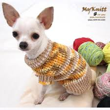 rustic crochet sweater chihuahua clothes dk853 myknitt