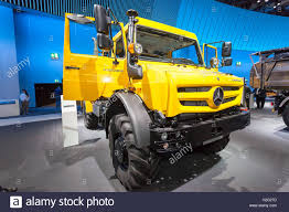 mercedes truck unimog mercedes unimog 4x4 truck at the commercial vehicles fair iaa