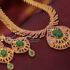 emerald gold necklace jewelry images Nl3633 ruby emerald gold design immitation jewellery south indian JPG