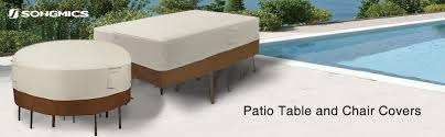 Covers For Outdoor Patio Furniture - amazon com songmics patio table and chair cover outdoor