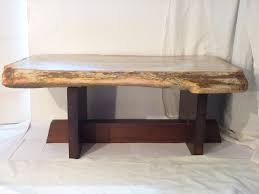 Petrified Wood Bench Wood Coffee Table