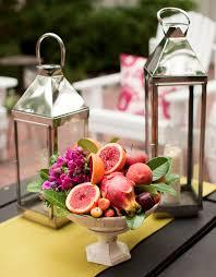 fresh picked fruit flower wedding centerpieces utah bride and