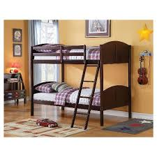 espresso twin bed toshi kids bunk bed espresso twin twin acme target