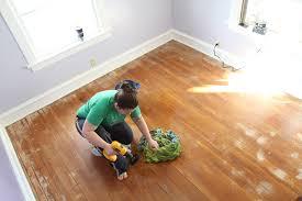 refinishing our hardwood floor thenerdnest