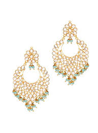 Buy Kundan Embellished Dangler Earrings Pink Pitch Kundan Embellished Dangler Earrings Maang Tika Set