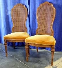 Cane Back Dining Room Chairs Hibriten Cane Back Padded Dining Room Chairs With Carved Legs Qty