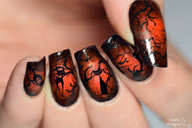 simply nailogical glowing halloween cat nails