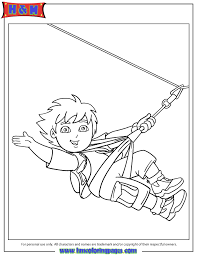 diego ziplining coloring page h u0026 m coloring pages