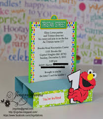 jingvitations elmo baby cards shower birthday party invitations