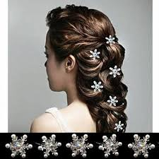 hair clasp new arrival rhinestone snowflake hair clasp frozen frozen pearl