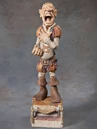 wood carving caricatures caricature carving cfire cowboy by dwayne gosnell wood