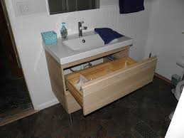 ikea vanity set white glossy ceramic sitting flushing water a