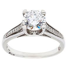 cubic zirconia engagement rings white gold tacori 18k white gold accent engagement ring with cubic