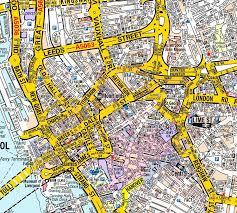 map az liverpool a z wall map