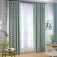 Insulated Patio Curtains Chevron Curtains Gray Yellow Blue Black And White