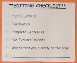 Resume Punctuation Deconstructing The Editing Checklist Crs Grade 4