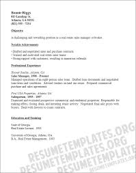 Real Estate Resume Templates Free Real Estate Resume Examples Samples Free Edit With Word Example