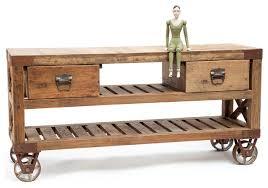 mid century durable style of kitchen cart trellis wood shelves