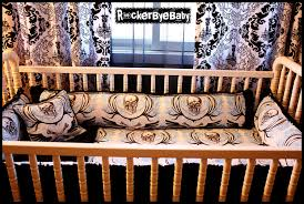 Rock N Roll Crib Bedding Custom Baby Crib Bedding Set You Choose The Fabric Skulls
