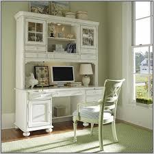 Sauder White Desk by Sauder Harbor View Computer Desk With Hutch Antiqued White