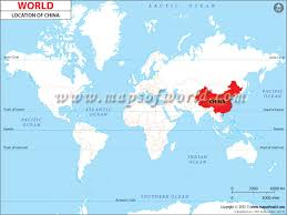 china on a map where is china location of china