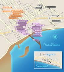 santa barbara california map the trail map santa barbara wine trail