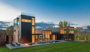 Home Design Exterior Walls Contemporary Home With Glass Walls And Panoramic Views Of Virginia