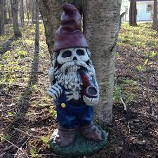 design house skeleton gnome with pipe statue reviews wayfair