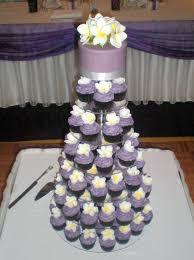 wedding cupcake tower sugar siren cakes mackay purple frangipani wedding cupcake tower