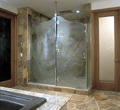 Decorative Glass Shower Doors Designs For A Bathroom - Bathroom glass designs