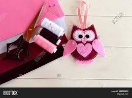 felt owl ornament handmade felt image u0026 photo bigstock