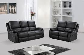 3 Seater Recliner Sofa Panther 3 Seater Recliner Sofa Black We Do Sofas