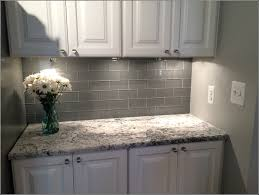 Light Grey Glass Subway Tile Backsplash Tiles  Home Design - Grey subway tile backsplash
